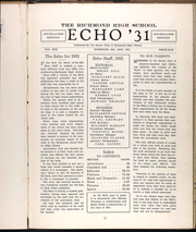 Page 7, 1931 Edition, Richmond High School - Echo Yearbook (Richmond, MO) online yearbook collection