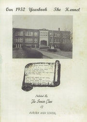 Page 5, 1952 Edition, Aurora High School - Kennel Yearbook (Aurora, MO) online yearbook collection
