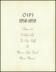 Page 5, 1959 Edition, Macon High School - Oipi Yearbook (Macon, MO) online yearbook collection