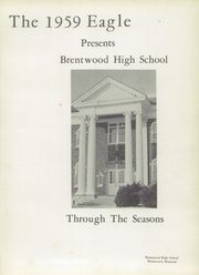 Page 5, 1959 Edition, Brentwood High School - Eagle Yearbook (Brentwood, MO) online yearbook collection
