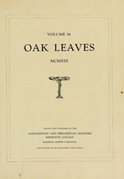 Page 5, 1919 Edition, Meredith College - Oak Leaves Yearbook (Raleigh, NC) online yearbook collection