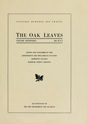 Page 7, 1920 Edition, Meredith College - Oak Leaves Yearbook (Raleigh, NC) online yearbook collection
