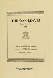 Page 7, 1927 Edition, Meredith College - Oak Leaves Yearbook (Raleigh, NC) online yearbook collection