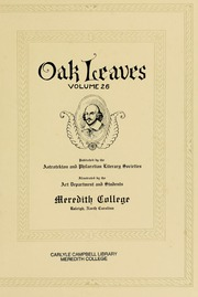 Page 7, 1929 Edition, Meredith College - Oak Leaves Yearbook (Raleigh, NC) online yearbook collection