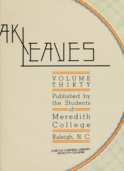 Page 7, 1933 Edition, Meredith College - Oak Leaves Yearbook (Raleigh, NC) online yearbook collection