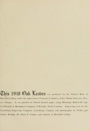 Page 5, 1948 Edition, Meredith College - Oak Leaves Yearbook (Raleigh, NC) online yearbook collection