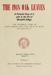Page 7, 1948 Edition, Meredith College - Oak Leaves Yearbook (Raleigh, NC) online yearbook collection