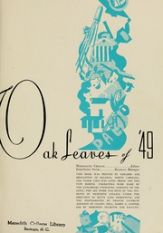 Page 5, 1949 Edition, Meredith College - Oak Leaves Yearbook (Raleigh, NC) online yearbook collection