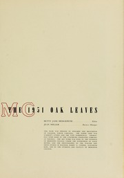 Page 5, 1951 Edition, Meredith College - Oak Leaves Yearbook (Raleigh, NC) online yearbook collection