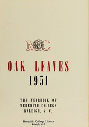 Page 7, 1951 Edition, Meredith College - Oak Leaves Yearbook (Raleigh, NC) online yearbook collection