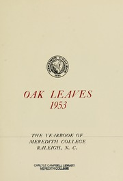 Page 7, 1953 Edition, Meredith College - Oak Leaves Yearbook (Raleigh, NC) online yearbook collection
