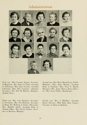 Page 17, 1956 Edition, Meredith College - Oak Leaves Yearbook (Raleigh, NC) online yearbook collection