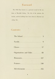 Page 8, 1956 Edition, Meredith College - Oak Leaves Yearbook (Raleigh, NC) online yearbook collection