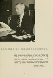 Page 15, 1957 Edition, Meredith College - Oak Leaves Yearbook (Raleigh, NC) online yearbook collection
