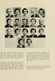 Page 17, 1957 Edition, Meredith College - Oak Leaves Yearbook (Raleigh, NC) online yearbook collection