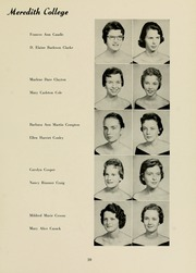 Page 63, 1958 Edition, Meredith College - Oak Leaves Yearbook (Raleigh, NC) online yearbook collection