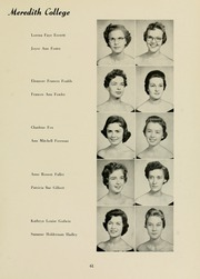 Page 65, 1958 Edition, Meredith College - Oak Leaves Yearbook (Raleigh, NC) online yearbook collection