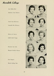 Page 71, 1958 Edition, Meredith College - Oak Leaves Yearbook (Raleigh, NC) online yearbook collection