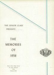 Page 5, 1958 Edition, Notre Dame High School - Memories Yearbook (St Louis, MO) online yearbook collection