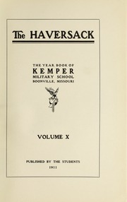 Page 5, 1911 Edition, Kemper Military School - Yearbook (Boonville, MO) online yearbook collection