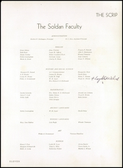 Page 15, 1945 Edition, Soldan High School - Scrip Yearbook (St Louis, MO) online yearbook collection