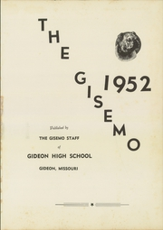 Page 5, 1952 Edition, Gideon High School - Gisemo Yearbook (Gideon, MO) online yearbook collection