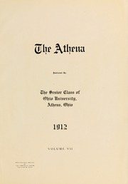 Page 9, 1912 Edition, Ohio University - Athena Yearbook (Athens, OH) online yearbook collection