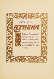 Page 7, 1914 Edition, Ohio University - Athena Yearbook (Athens, OH) online yearbook collection