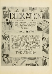 Page 9, 1930 Edition, Ohio University - Athena Yearbook (Athens, OH) online yearbook collection