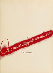 Page 5, 1940 Edition, Ohio University - Athena Yearbook (Athens, OH) online yearbook collection