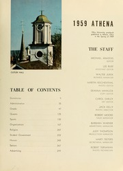 Page 7, 1959 Edition, Ohio University - Athena Yearbook (Athens, OH) online yearbook collection