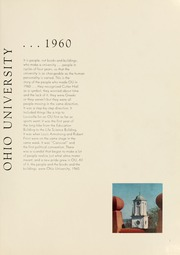 Page 5, 1960 Edition, Ohio University - Athena Yearbook (Athens, OH) online yearbook collection