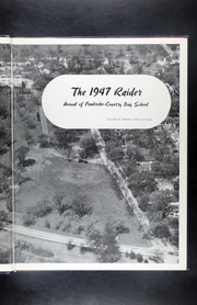 Page 7, 1947 Edition, Pembroke Hill High School - Raider Yearbook (Kansas City, MO) online yearbook collection