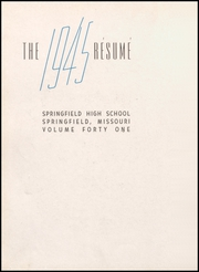 Page 6, 1945 Edition, Springfield High School - Resume Yearbook (Springfield, MO) online yearbook collection