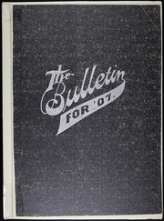 1907 Edition, Greenfield High School - Bulletin Yearbook (Greenfield, MO)