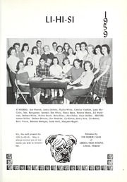 Page 5, 1959 Edition, Liberal High School - Li Hi Si Yearbook (Liberal, MO) online yearbook collection