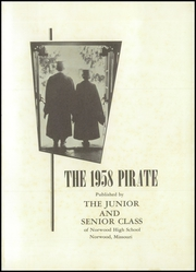Page 5, 1958 Edition, Norwood High School - Pirate Yearbook (Norwood, MO) online yearbook collection