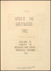 Page 5, 1940 Edition, Greenwood High School - Under the Greenwood Tree Yearbook (Springfield, MO) online yearbook collection