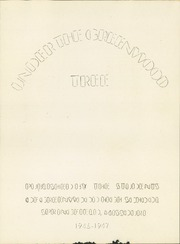 Page 7, 1947 Edition, Greenwood High School - Under the Greenwood Tree Yearbook (Springfield, MO) online yearbook collection