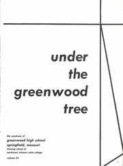 Page 7, 1958 Edition, Greenwood High School - Under the Greenwood Tree Yearbook (Springfield, MO) online yearbook collection