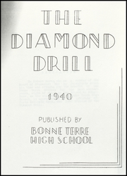 Page 5, 1940 Edition, Bonne Terre High School - Diamond Drill Yearbook (Bonne Terre, MO) online yearbook collection