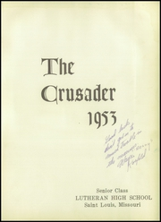 Page 5, 1953 Edition, Lutheran Central High School - Crusader Yearbook (St Louis, MO) online yearbook collection
