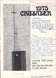 Page 5, 1975 Edition, Lutheran Central High School - Crusader Yearbook (St Louis, MO) online yearbook collection