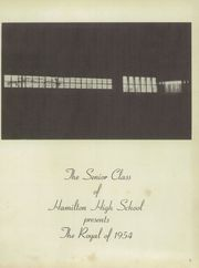 Page 5, 1954 Edition, Hamilton High School - Royal Yearbook (Hamilton, MO) online yearbook collection