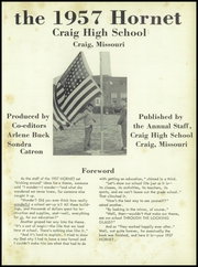 Page 7, 1957 Edition, Craig High School - Hornet Yearbook (Craig, MO) online yearbook collection