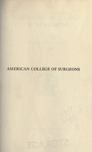 Page 9, 1919 Edition, American College of Surgeons - Yearbook (Chicago, IL) online yearbook collection