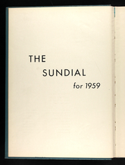 Page 6, 1959 Edition, Sunset Hill High School - Sundial Yearbook (Kansas City, MO) online yearbook collection