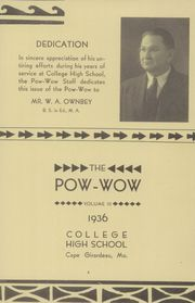 Page 3, 1936 Edition, College High School - Pow Wow Yearbook (Cape Girardeau, MO) online yearbook collection