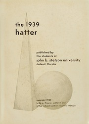 Page 5, 1939 Edition, Stetson University - Hatter Yearbook (DeLand, FL) online yearbook collection