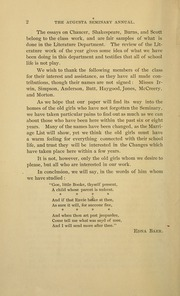 Page 8, 1891 Edition, Mary Baldwin College - Bluestocking Yearbook (Staunton, VA) online yearbook collection